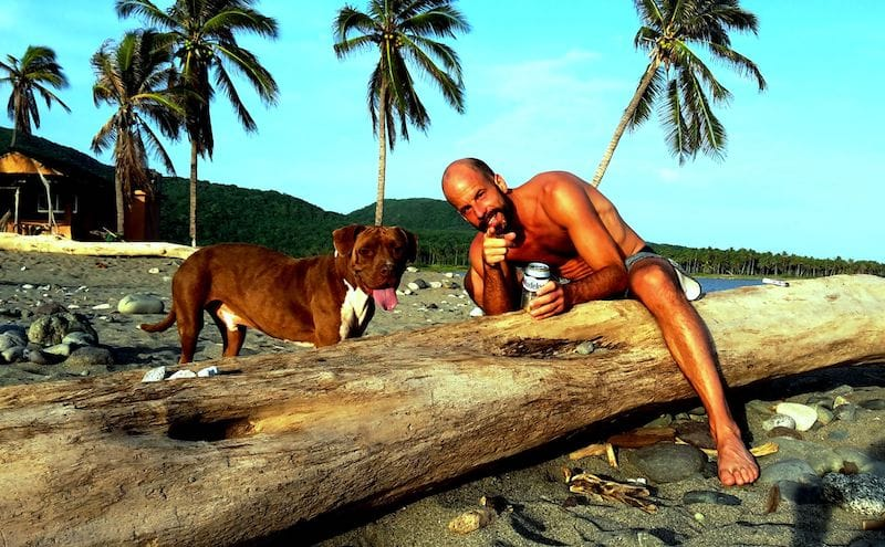 Andreas Brendt mit Hund